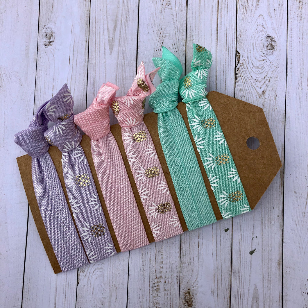 Pastel Pineapple Hair tie set