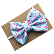 Load image into Gallery viewer, Bunny Jersey Bow on Nylon Headband