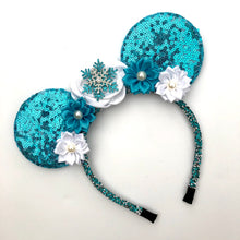 Load image into Gallery viewer, Snow Princess Ear Headband