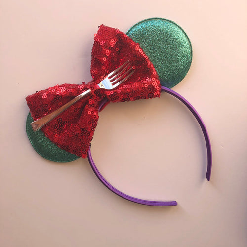 Small Mermaid Mouse Ear Headband