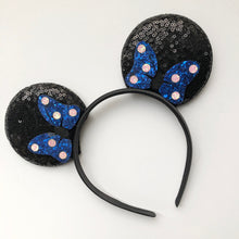 Load image into Gallery viewer, Mouse Ears with glitter bows