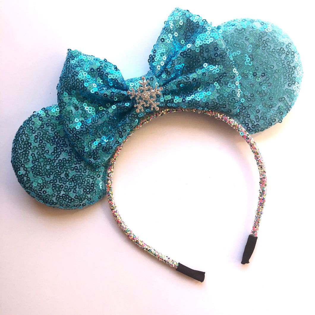 Blue Mouse Ear Headband