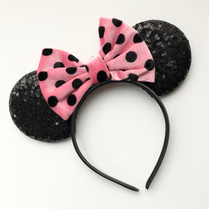 Polka Dot Mouse Ear Headband