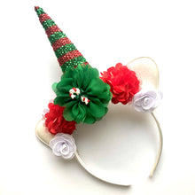 Load image into Gallery viewer, Red & Green Unicorn Headband