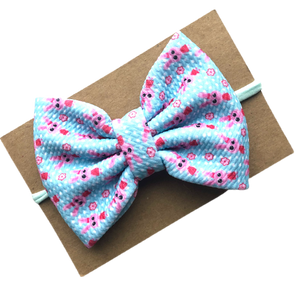 Bunny Jersey Bow on Nylon Headband