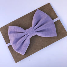 Load image into Gallery viewer, Jersey Bow on Nylon Headband