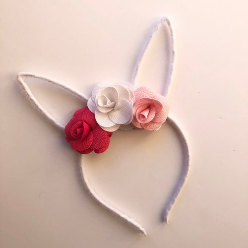 White Bunny Ear Headband