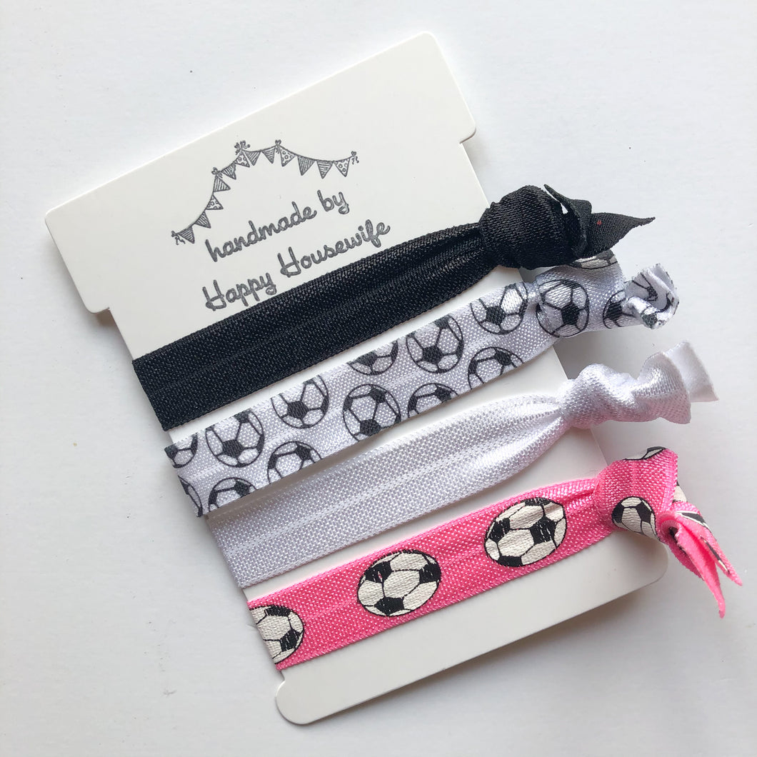 Soccer Hair tie set