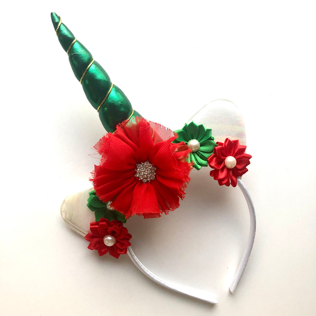 Red & Green Unicorn Headband