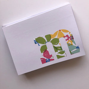 Letter M note cards