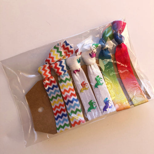 Unicorn & Rainbow Hair tie set