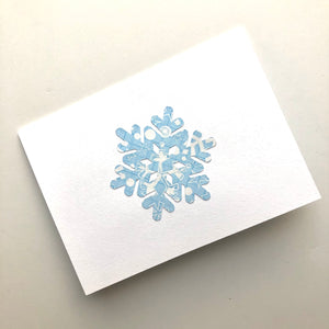Star/snowflake note cards