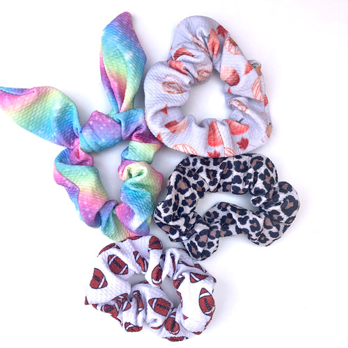 Patterned Fabric scrunchies