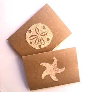 Starfish & Sand Dollar note cards