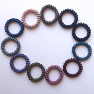 Phone Cord Hair Ties - Matte