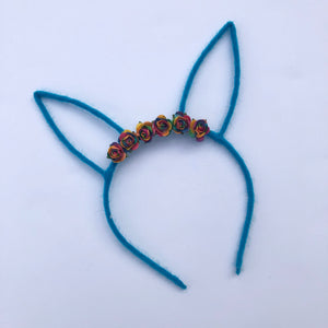 Blue Bunny Ear Headband