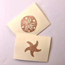 Load image into Gallery viewer, Starfish & Sand Dollar note cards