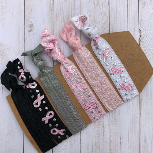 Breast Cancer Awareness Hair tie set