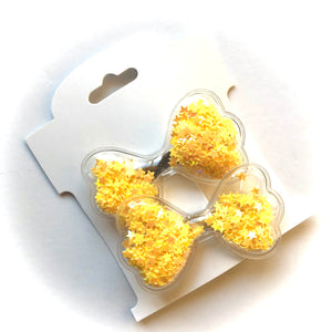 Bow Glitter clips