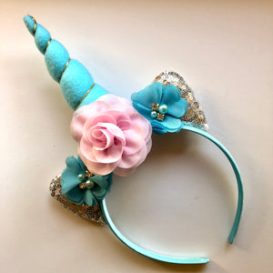 Pink & Aqua Unicorn Headband
