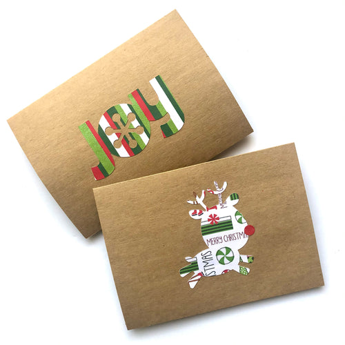 Reindeer & Joy note cards
