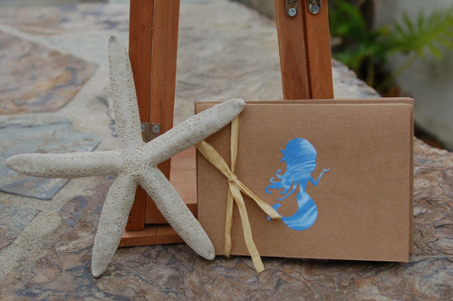Blue Mermaid note cards