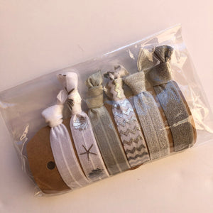 Silver Sea Hair tie set