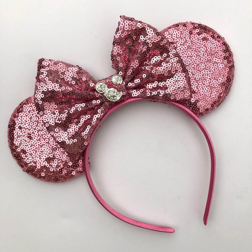 Pink Mouse Ear Headband