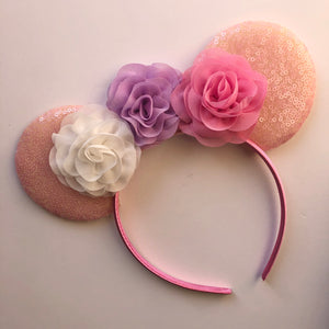 Flower Mouse Ear Headband