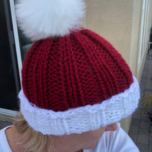 Load image into Gallery viewer, Santa Hand knit Hat/Beanie