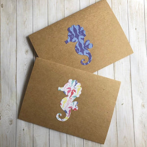 Mixed Seahorse Note Cards - set of 6