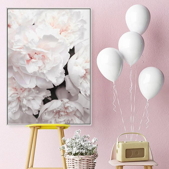 Flower Petals Print On Canvas