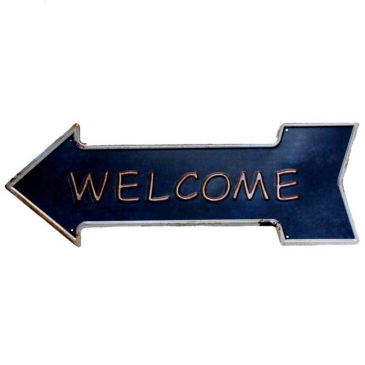 Classic Metal Arrow Welcome Sign