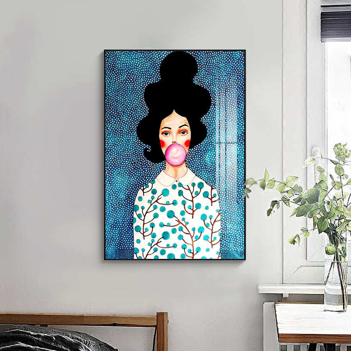 Modern Designer Portrait Print Series On Canvas