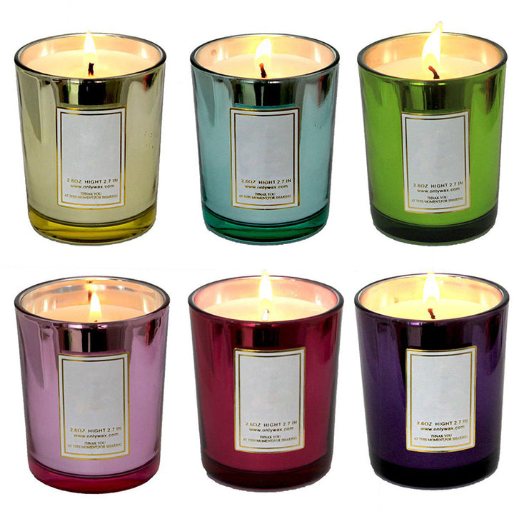 6PCs/Set Aromatherapy Scented Glass Tea Candle