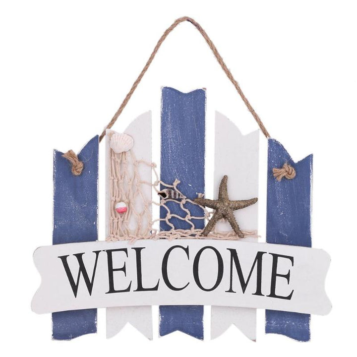 Wooden Beach Themed Welcome Sign