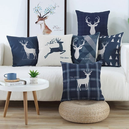 Linen Deer Series Cushion