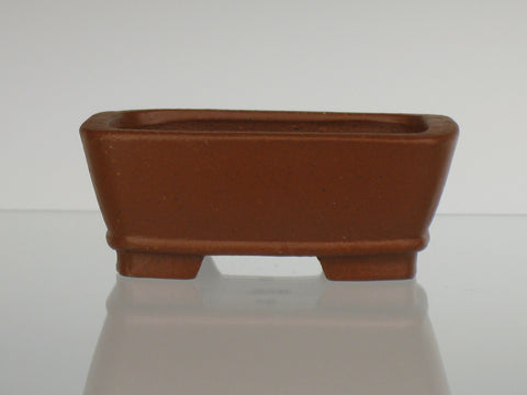 Red Unglazed Mame Rectangle
