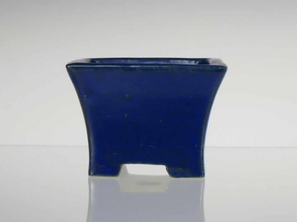Fluted Square Blue Container