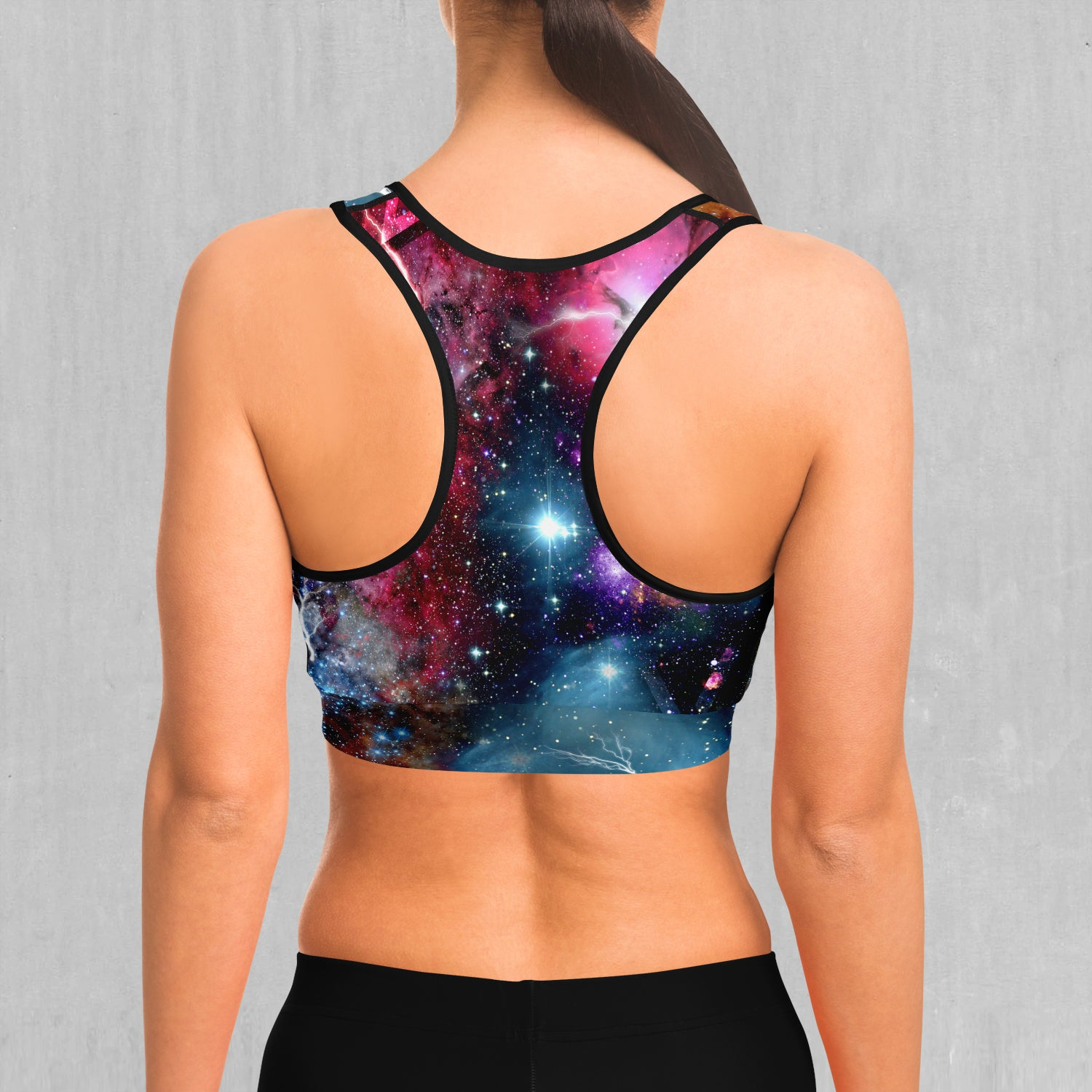 Galaxies Collide Sports Bra