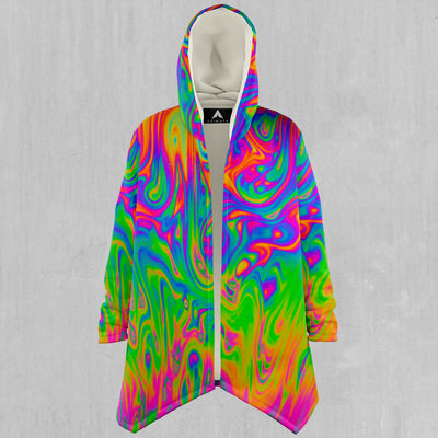Electrostatic Zip-Up Hoodie - EDM Rave Street Wear Abstract Apparel