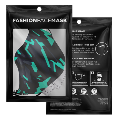 Cyber-Tech Face Mask - EDM Rave Street Wear Abstract Apparel