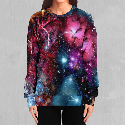 Electric Galaxy Pullover Hoodie - EDM Rave Street Wear Abstract Apparel