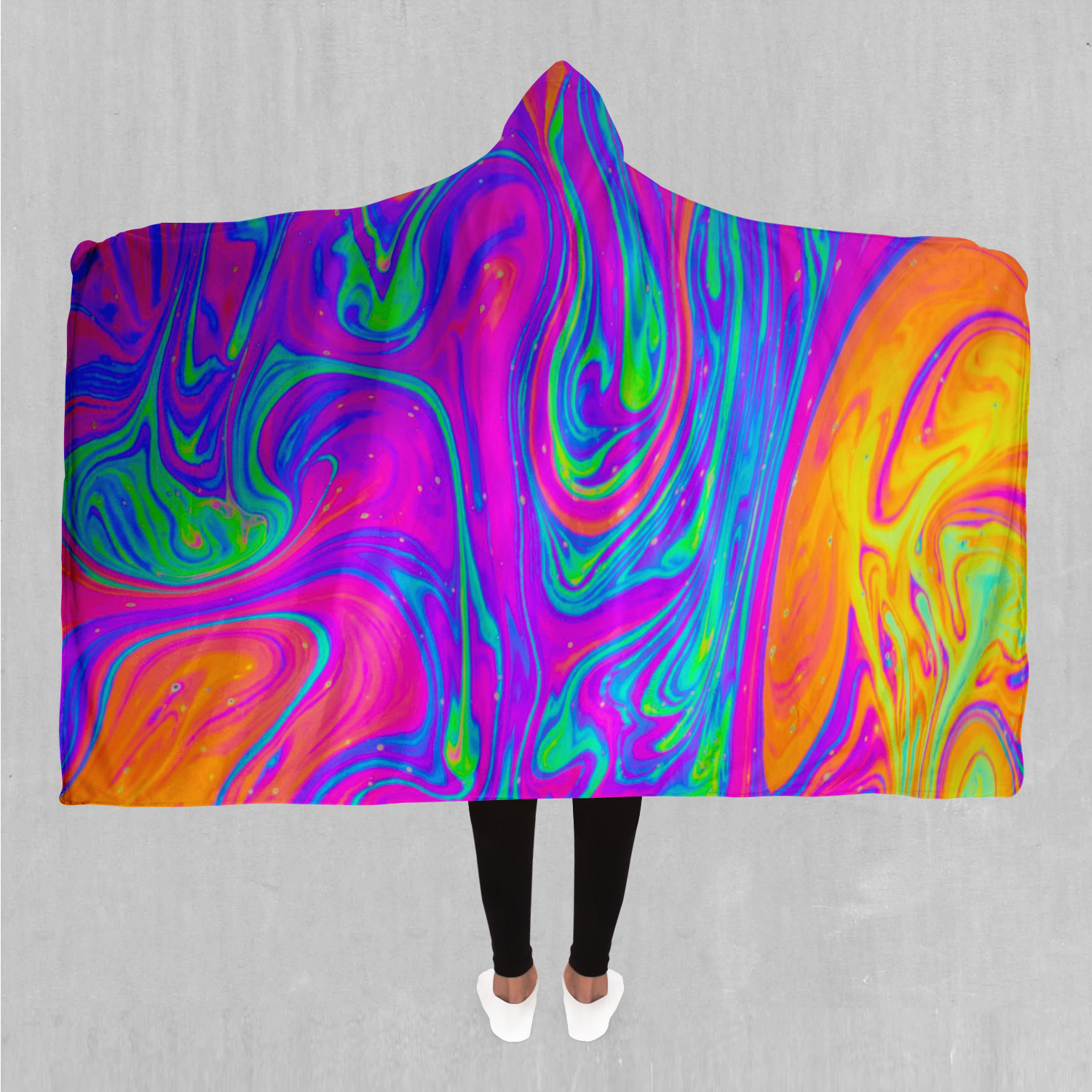 Acidic Drip Hooded Blanket