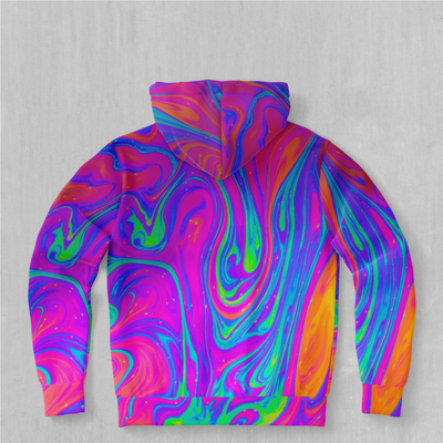 Acidic Drip Hoodie - EDM Rave Festival Street Wear Abstract Apparel