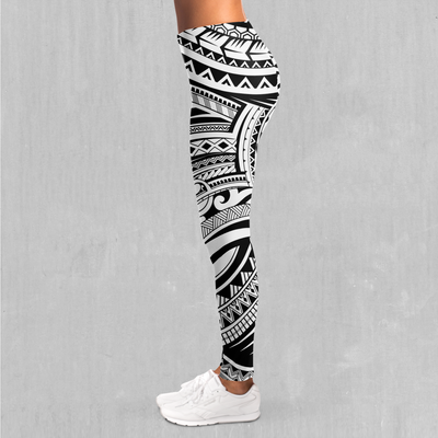 Ancient Tribe Leggings - EDM Rave Festival Street Wear Abstract Apparel