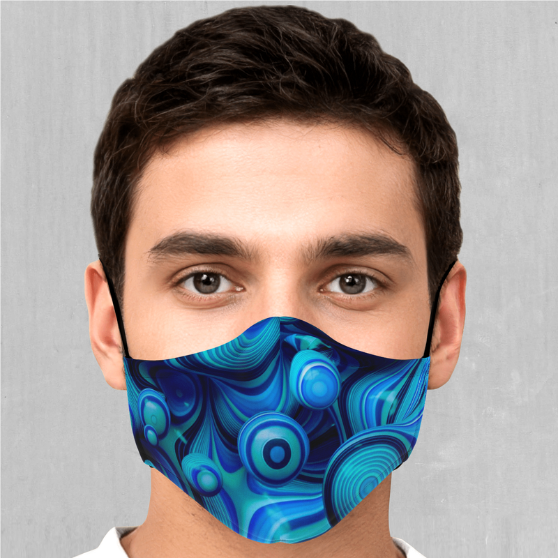 Aqua Pool Face Mask - EDM Rave Festival Street Wear Abstract Apparel