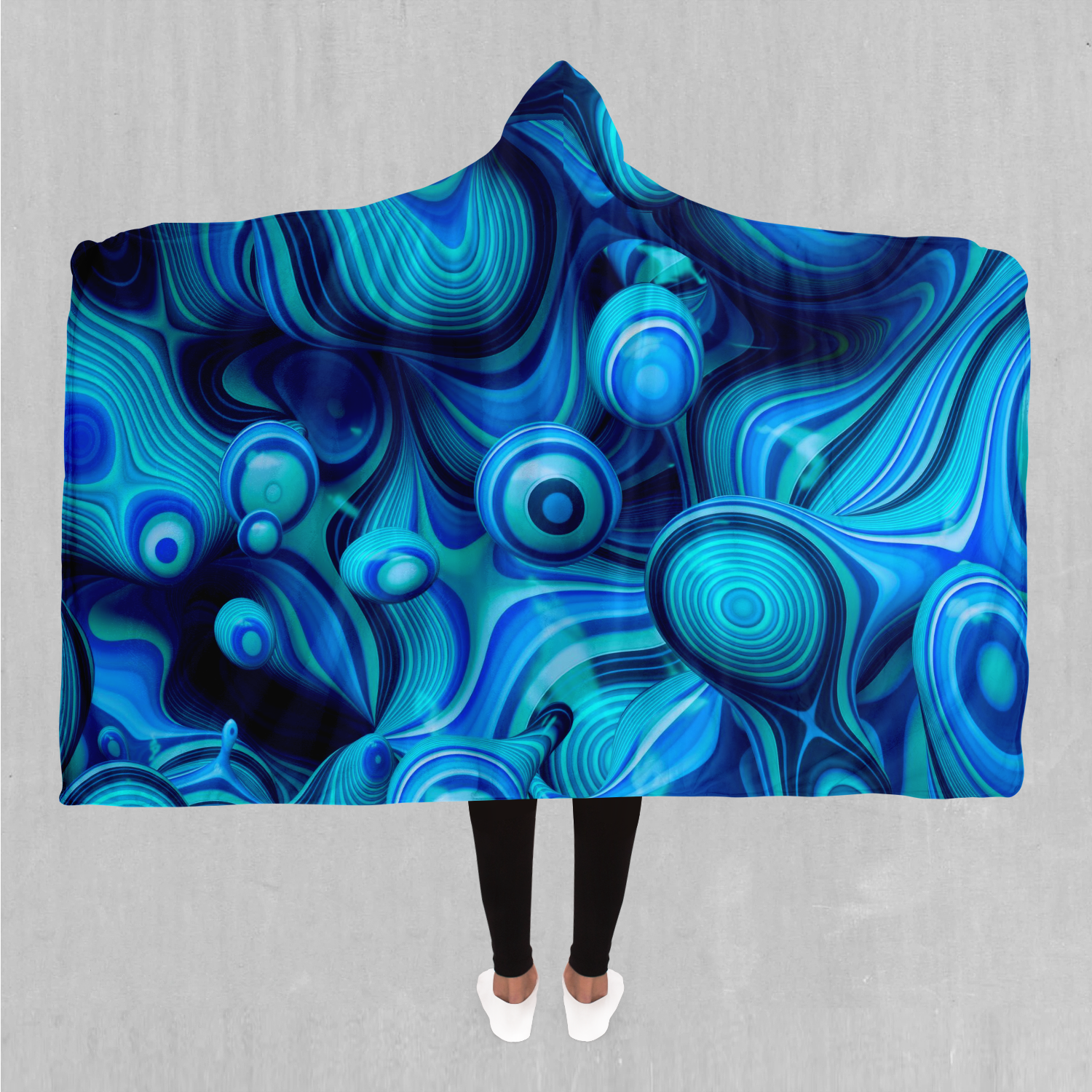 Aqua Pool Hooded Blanket