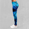 Aqua Pool Leggings - EDM Rave Festival Street Wear Abstract Apparel