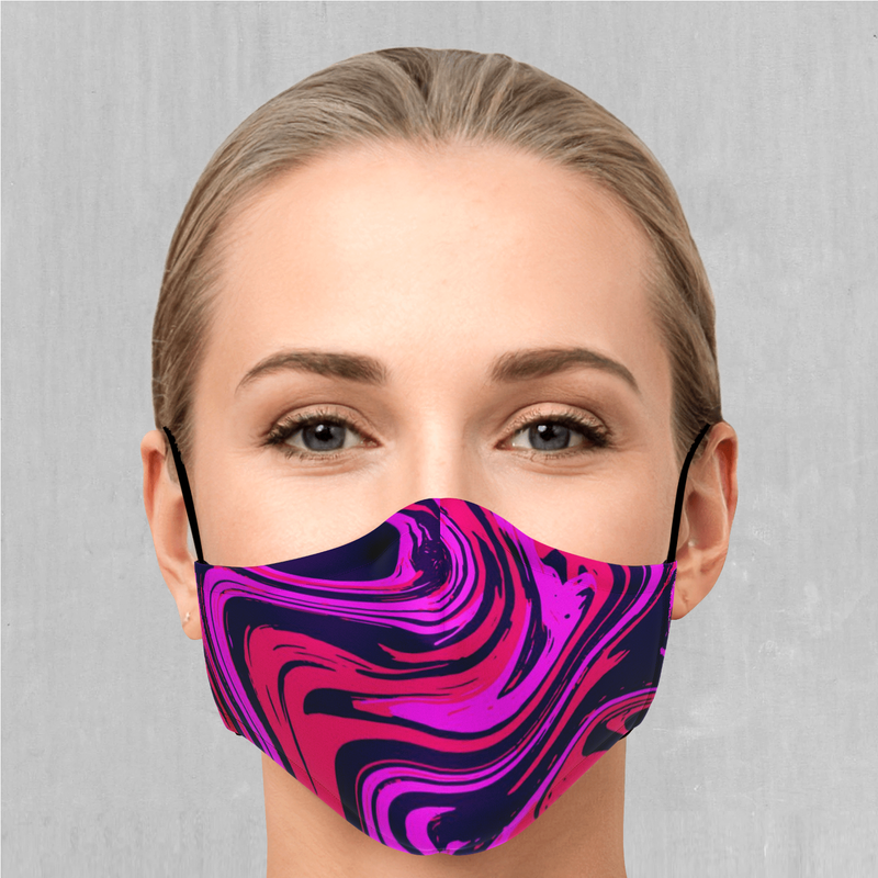 Candy Drip Face Mask - EDM Rave Festival Street Wear Abstract Apparel